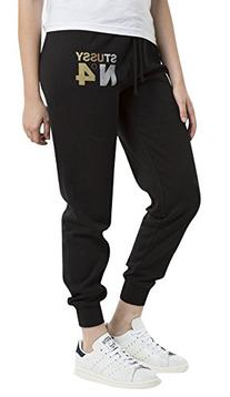 Stussy Women's Metallic No. 4 Sweatpants Black L