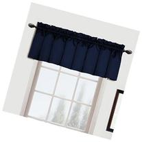 Metro Rod Pocket Tailored 54 Curtain Valance, Navy