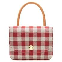 Mansur Gavriel Metropolitian gingham canvas top-handle bag