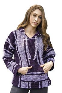 Purple Mexican Baja Jerga Hoodie Unisex