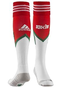 Adidas Mexico Red Home Crest Socks 9- 10 1/2 Mens Red/white/