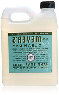 Mrs. Meyer's Clean Day Liquid Hand Soap Refill, Basil, 33 fl
