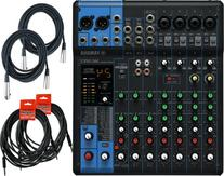 Yamaha MG10XU 10 Input Stereo Mixer  w/ Cables