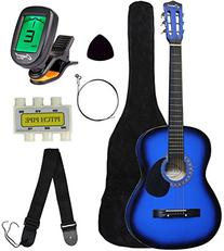 "Crescent MG38-BU 38"" Acoustic Guitar Starter Package, Blue"