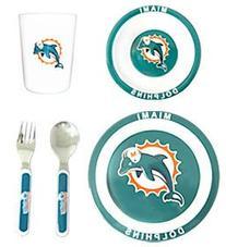 Miami Dolphins 5 Piece Children s Dinner Set