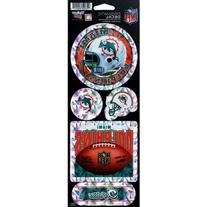 Miami Dolphins NFL 10.5x4 Prismatic Decal Set by Wincraft