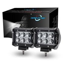 "MICTUNING MIC-06F18 2x 4"" 18W CREE LED Lights Bar Spot Beam"
