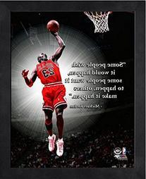 Michael Jordan Chicago Bulls NBA ProQuotes® Photo  Framed