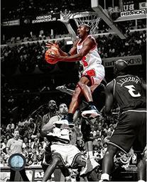 Michael Jordan Chicago Bulls NBA Spotlight Action Photo
