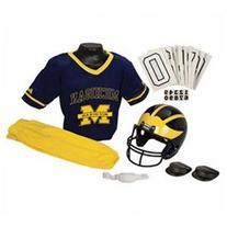 Michigan Wolverines Football Deluxe Uniform Set