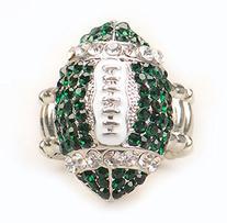 Michigan State Fan Jewelry NCAA Green Rhinestone Women Girls
