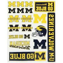 Michigan Wolverines Vinyl Cling Stickers 18 Removeable