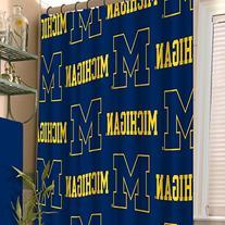"NCAA Michigan Wolverines Shower Curtain, Blue, 72"" x 72"