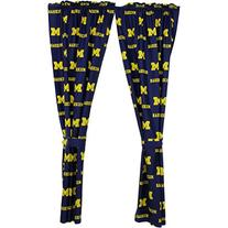 College Covers Michigan Wolverines Printed Curtain Panels,