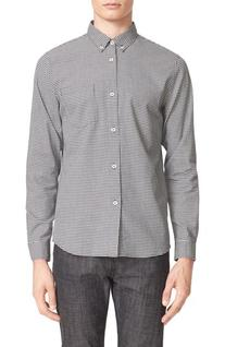 Men's A.p.c. Mick Gingham Check Sport Shirt, Size X-Large -