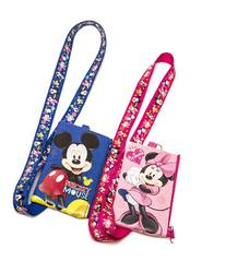 Disney Set of 2 Mickey and Minnie Mouse Lanyards with