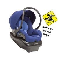 Maxi-Cosi Mico AP Infant Car Seat w Baby on Board Sign-