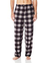 Jockey Men's Micro Plush Sleep Pant, Black/Charcoal Plaid,