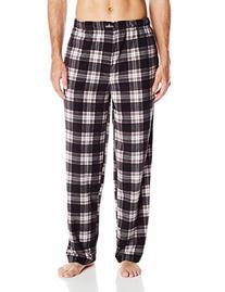 Jockey Men's Micro Plush Sleep Pant, Black/Charcoal Plaid,