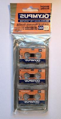 Olympus Microcassette System XB60 3-PACK
