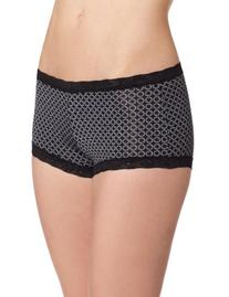 Maidenform Women's Microfiber with Lace Boyshort Panty, New