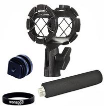 Eggsnow Camera Microphone Shockmount Holder Clip + Hot Shoe