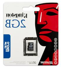 Kingston 2 GB microSD Flash Memory Card SDC/2GBSP