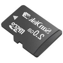 SanDisk 2GB MicroSD / TransFlash Card w/SD Adapter camcorder