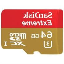 SanDisk Extreme 64 GB microSDXC - Class 10 - 90 MB/s Read -