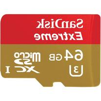 Sandisk 64GB Extreme MicroSDXC UHS-I Card