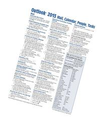Outlook 2013 Mail, Calendar, People, Tasks Quick Reference