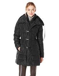 Jessica Simpson Women's Mid Length Down Coat with Clasp