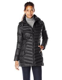 Tommy Hilfiger Women's Mid Length Packable Down Coat with