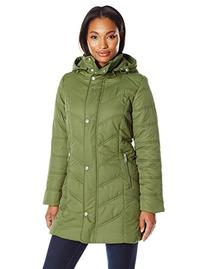 Big Chill Women's Mid Length Puffer Coat, Loden, Small