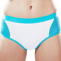 Yvette Women Mid-Rise Sports Control Panties #6004, White/