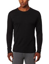 Duofold Men's Mid Weight Wicking Thermal Shirt, Black, Large