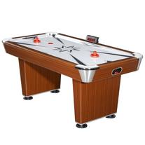 Hathaway Midtown Air Hockey Table, Cherry Finish/Silver, 6-