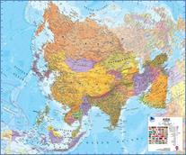 Maps International MILASIA Asia 1 to 11 Laminated Wall Map