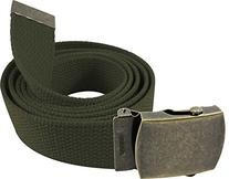 """Enimay 56"""" Military Style Canvas Web Belt w/ Brass Roller"""
