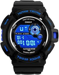 Fanmis Mens Military Multifunction Digital LED Watch