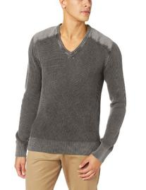 Alex Stevens Men's Military V-Neck, Dark Heather Grey, XX-