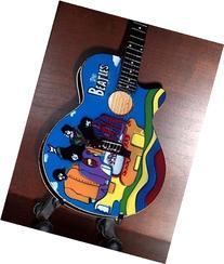 Mini Guitar BEATLES YELLOW SUBMARINE Acoustic TRIBUTE Gift