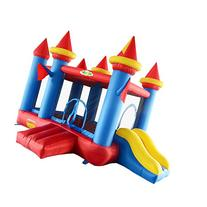 Yard Mini Bouncy Castle Inflatable Bouncer House with Slide