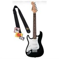 Squier by Fender Mini, Rosewood Fretboard Bundle with Levy's