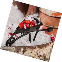 Mini Garden Black Wheelbarrow