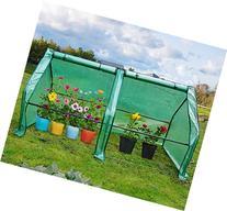 Quictent Updated Super Large Zipper Doors Mini Greenhouse