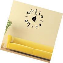 Mosunx Mini Modern DIY Wall Clock 3D Sticker Design Home