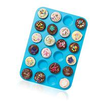 Joyoldelf Large Mini Muffin Pans - 24 Cup Silicone Bakeware