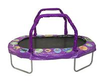 "JumpKing Mini Oval Trampoline with Purple Pad, 38"" x 66"
