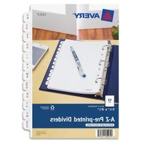 Avery Mini Preprinted Dividers with A-Z Tabs, 5.5 x 8.5-